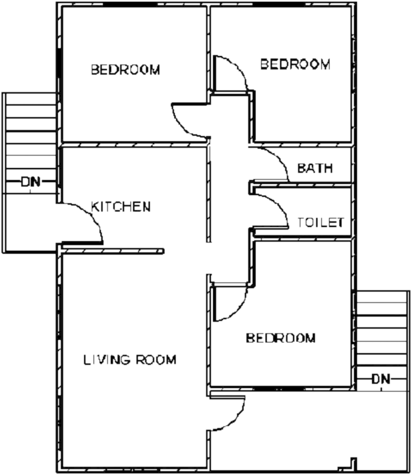 Floor plan of a private single-family residential building
