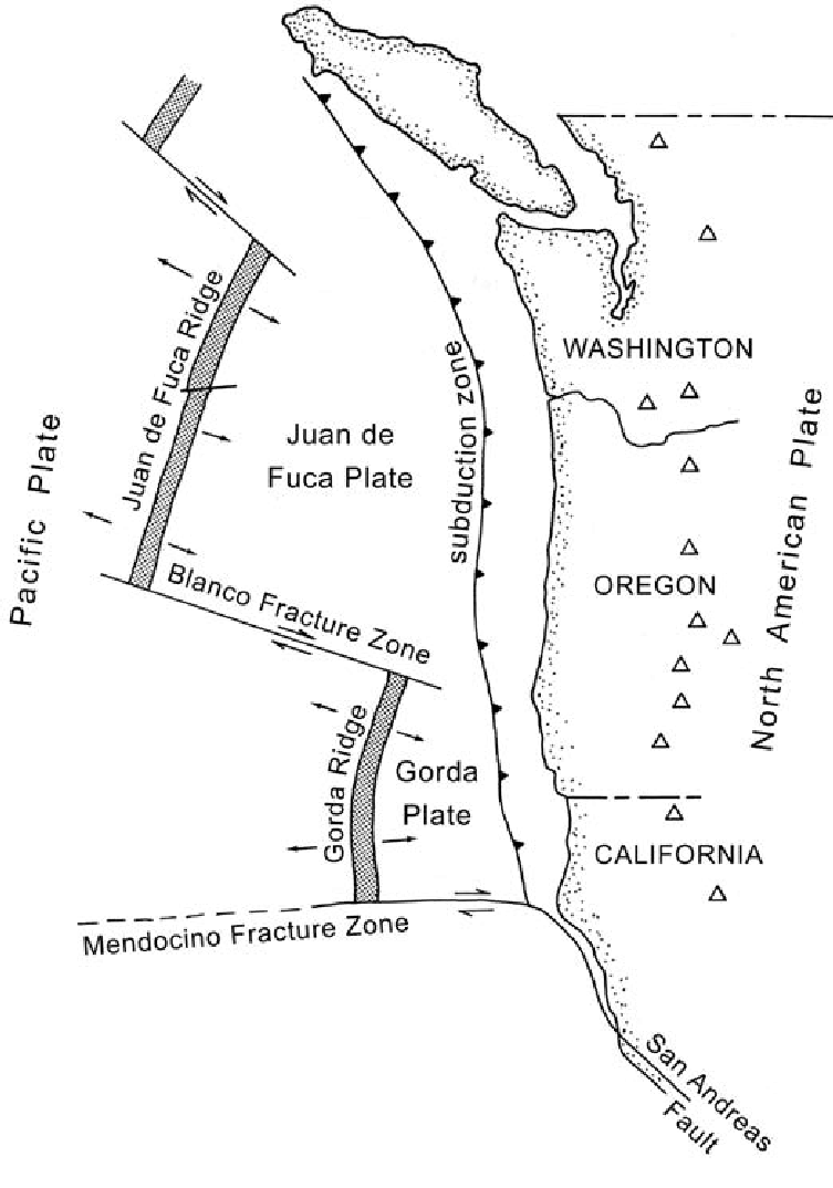 hight resolution of the tectonic setting of the pacific northwest with the collision and subduction of the oceanic