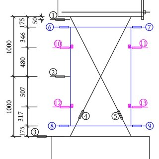 Details of shear wall, embedded plate, and U-shaped