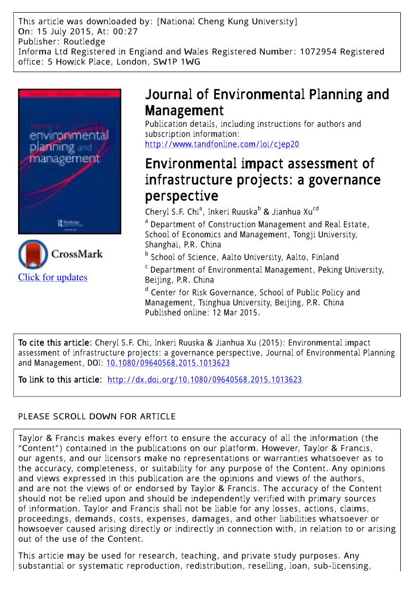 PDF Public Participation In Environmental Impact Assessment For