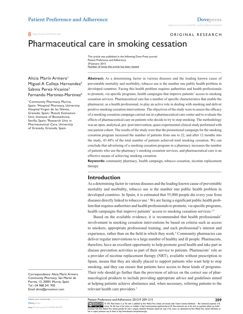 PDF A Narrative Review Of Smoking Cessation Practices In Jordan