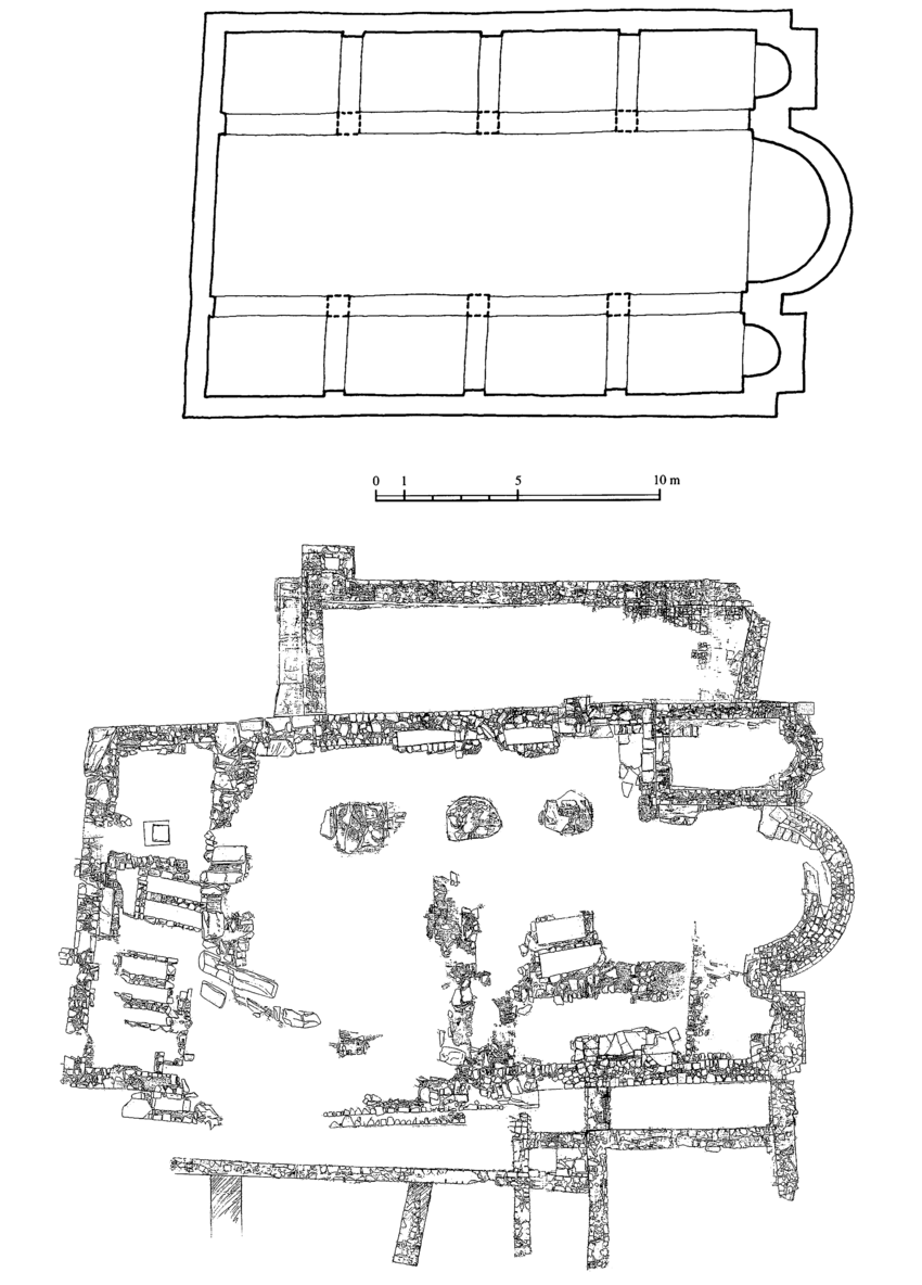 hight resolution of church of st michael in prevlaka a plan of basilica church reconstruction
