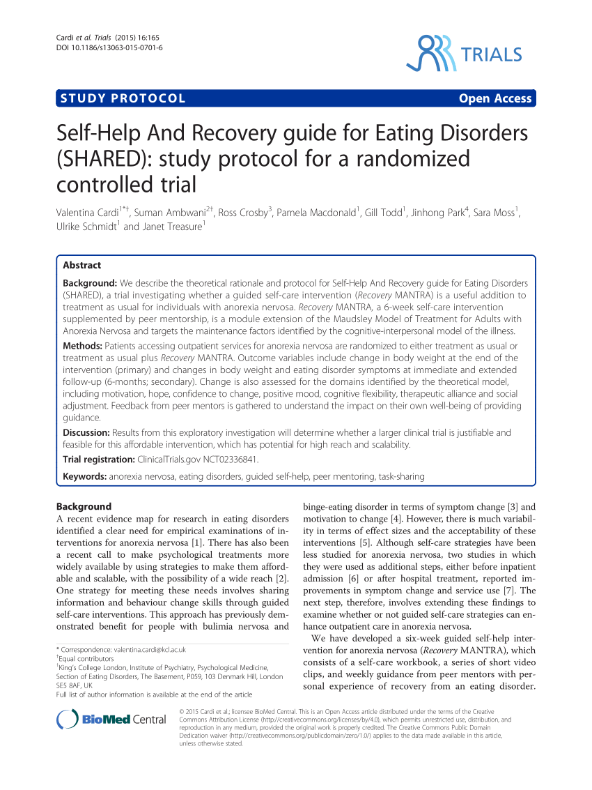 PDF Loneliness And Eating Disorders