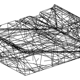 Actual and model distribution of the rock block size