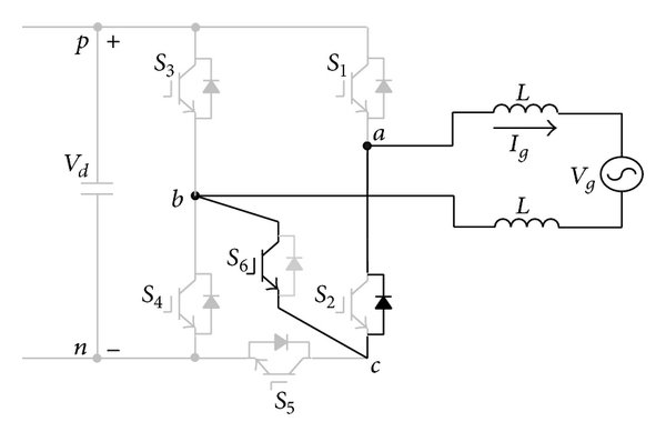 Schematic diagram of proposed power electronic inverter
