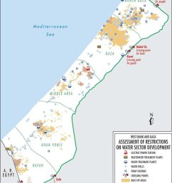 water wells distribution in gaza ocha 12  [ 850 x 1164 Pixel ]