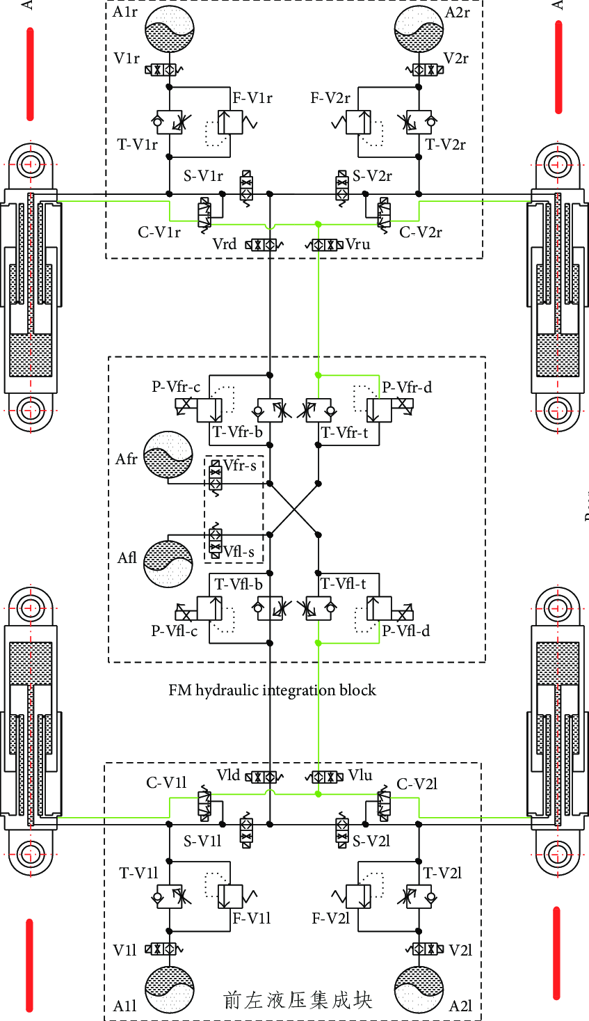 hight resolution of schematic of hydraulic system design