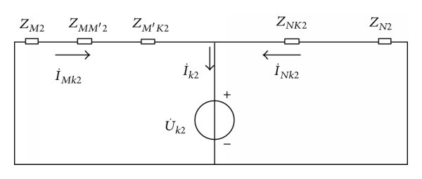 Phasor diagram at Protection 2 under condition of three