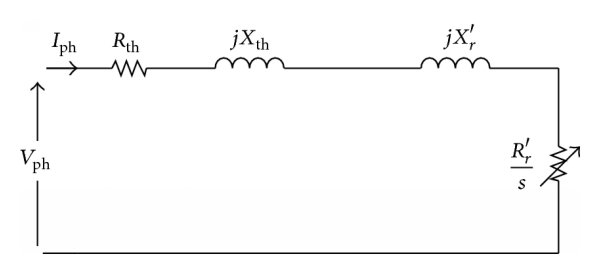 (a) One phase steady-state equivalent circuit model of a
