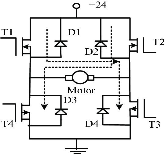 Reversible Speed Regulation Circuit of DC Motor