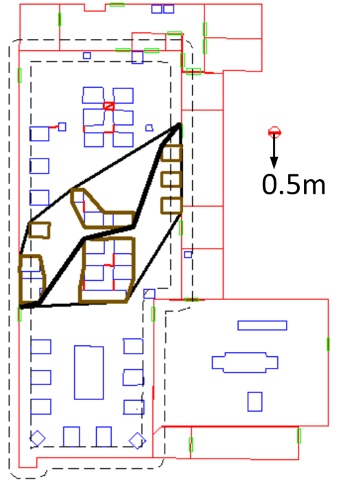 small resolution of path finding for the sizes of 0 5 m 0 6 m and 0 8 m on the hospital download scientific diagram