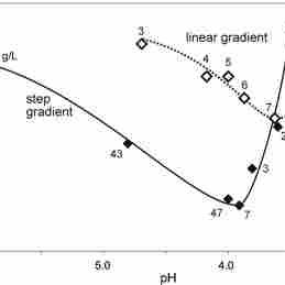 IgG size across protein A elution by linear pH gradient