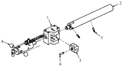 CT ammunition Mann-barrel drawing. Parts: 1