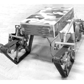 Six-wheeled and double crank slider suspension system