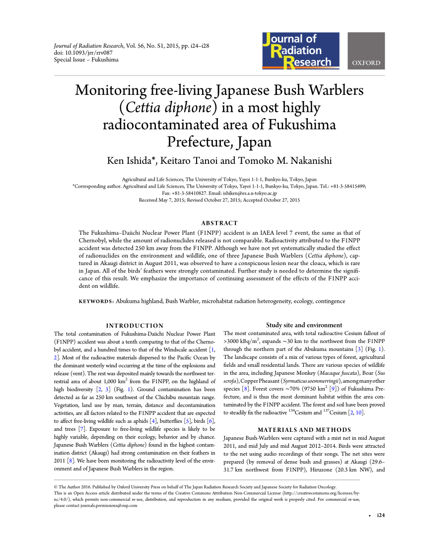 PDF Agricultural Implications Of The Fukushima Nuclear Accident
