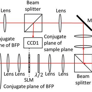 Amplitude Spatial light modulator (SLM) in a plane