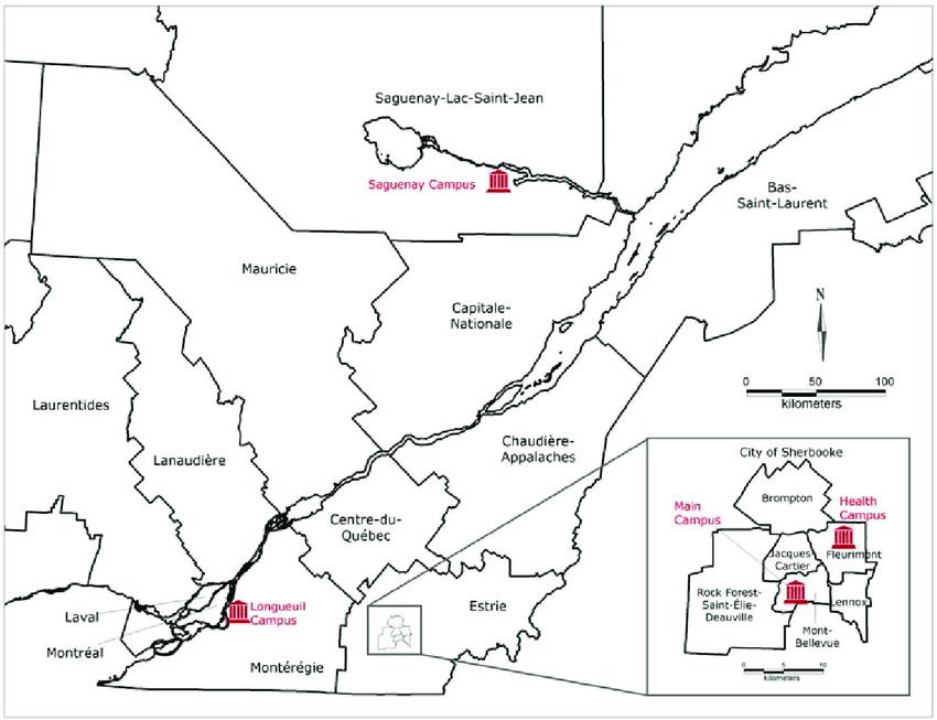 Sherbrooke map