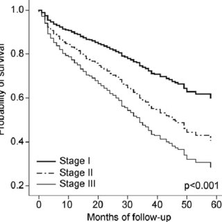 Survival analysis for total IPF patients according to GAP