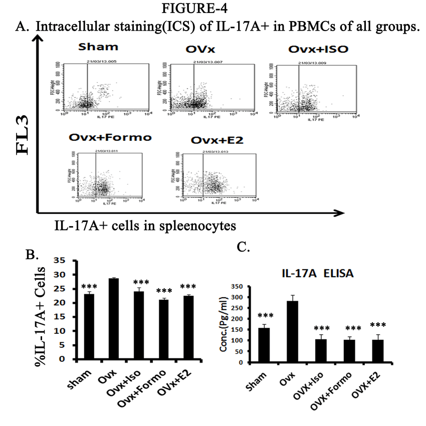 Treatment of formo/isoformo prevents Ovx-induced