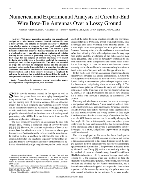 small resolution of characterization of transient bow tie antennas for ground 200 4r performance wiring 2004r bow tie