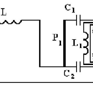 Schematic diagram of the excitation circuit: C1, C2, C3
