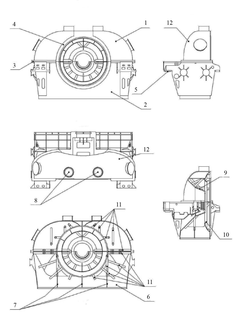 Low pressure cylinder exhaust hood of T-125/150-12.8
