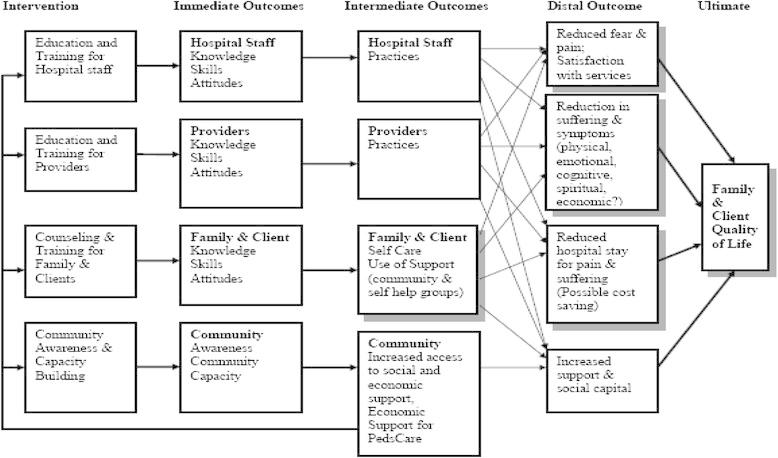 Evaluation logic model pediatric palliative care