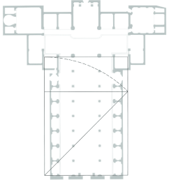 basilica of san lorenzo floor plan with root 2 rectangle overlay suggesting a possible [ 850 x 940 Pixel ]