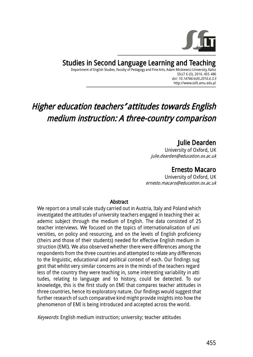 PDF Internationalization Or Englishization Medium Of Instruction
