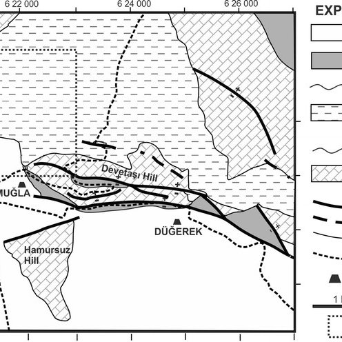 General geology map of the study area (modified from Konak