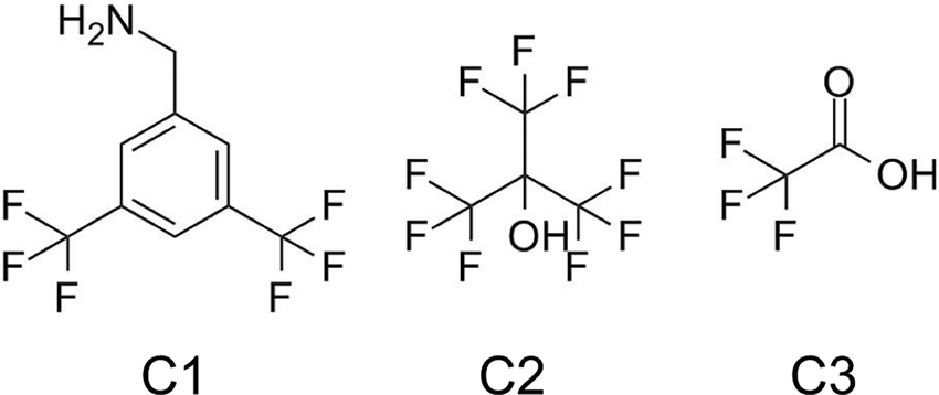Chemical structures of compounds with variable number of