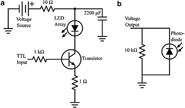 The electronic circuits used for pulsing and light
