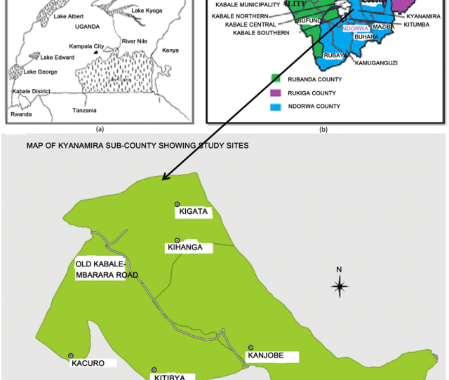 A Map Of Uganda Indicating The Location Of Kabale District B