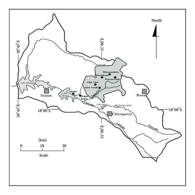 A schematic representation of the catchment area of Lake