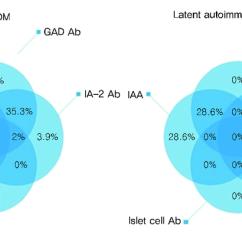 Venn Diagram Type 1 And 2 Diabetes House Wiring India Diagrams Show Distribution Of Autoantibody In Mellitus Dm Latent