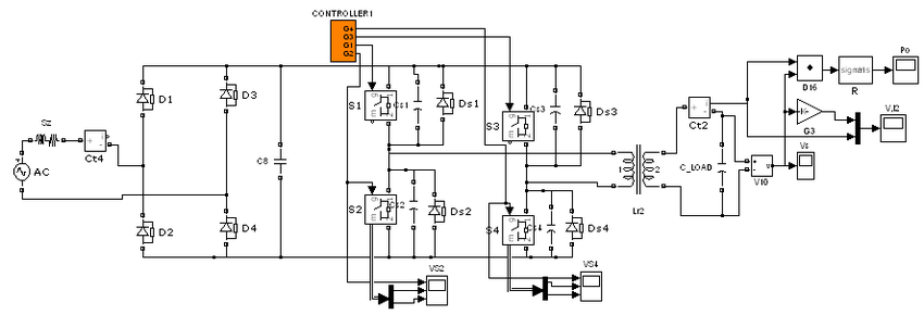 Conventional Power Supply Circuit for Ozonator without PFC