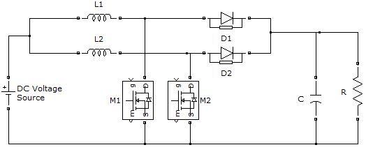 Figure 1. Circuit Diagram of Interleaved Boost Converter