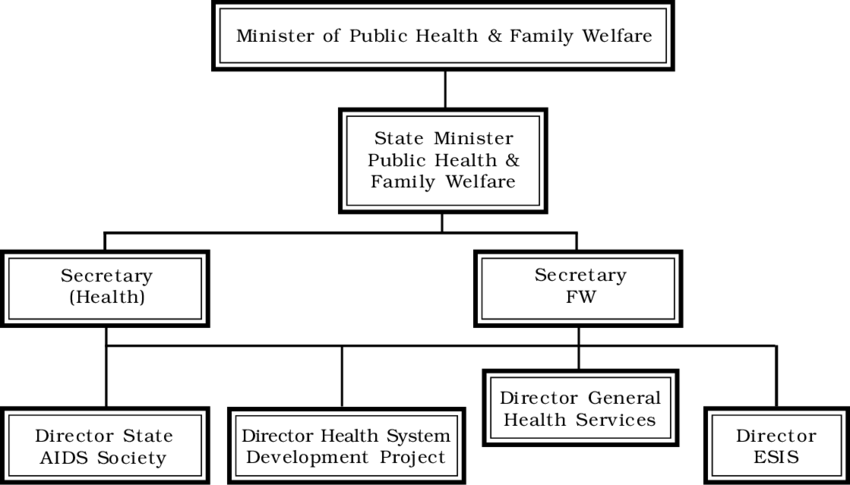Organisation Structure of Public Health and Family Welfare