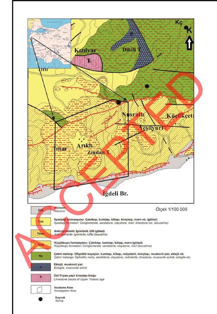 medium resolution of geological map of the region mta 1 100 000 scale geological map duru