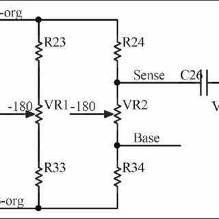 Block diagram of measuring circuit for the iron content