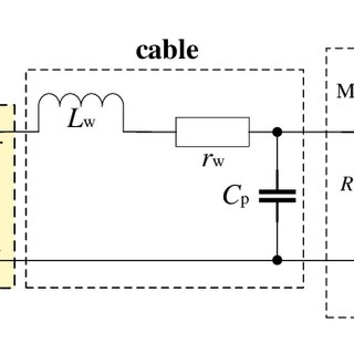 Equivalent circuit of the inductive proximity sensor (IPS
