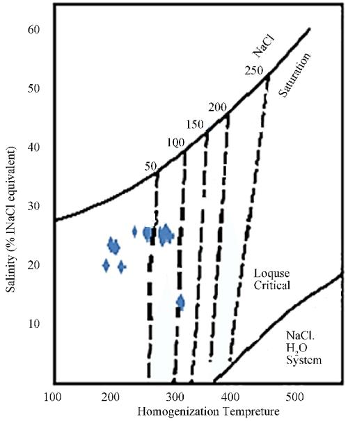 small resolution of determination diagram for vapor pressure of fluid on the basis of salinity vs homogenization temperature