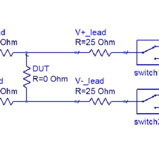 4 wire measurement circuit low voltage landscape lighting wiring diagram figure a2 a model of the used to perform our