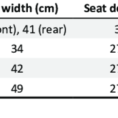 Wheel Chair Dimensions Outdoor Rocking Chairs Of Wheelchair Models And Sizes Download Table