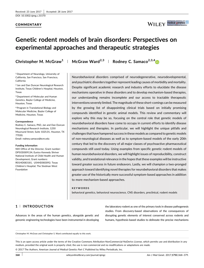 PDF Animal Models In Psychiatric Research The RDoC System As A