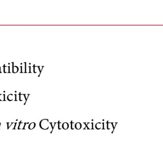 (PDF) Cytotoxicity Tests for Evaluating Medical Devices