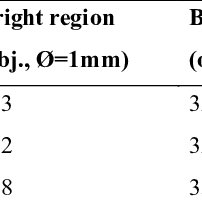 Bright region count obtained in objective and subjective