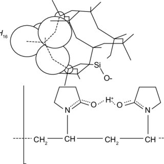 structure of polyvinylpyrrolidone with central silicon