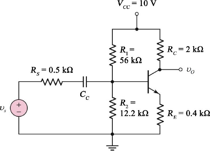 Voltage divider biasing common emitter amplifier
