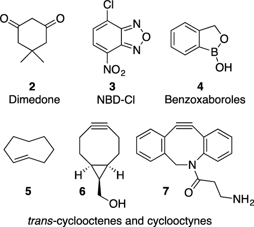 A selection of molecules that contain functional groups